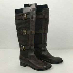 Cole Haan Avalon Knee High Boots Belted Harness
